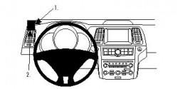 Fixation voiture Proclip  Brodit Nissan CrossCabriolet Réf 804150