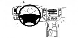 Fixation voiture Proclip  Brodit Toyota Tacoma Réf 804162