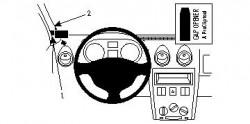 Fixation voiture Proclip  Brodit Dacia Logan Réf 804166