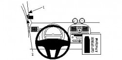 Fixation voiture Proclip  Brodit Smart ForTwo  PAS pour le modèle Cabriolet. Réf 804168