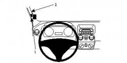 Fixation voiture Proclip  Brodit Citroen Nemo Réf 804172