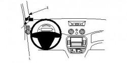 Fixation voiture Proclip  Brodit Citroen C3 Réf 804173