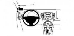 Fixation voiture Proclip  Brodit Hyundai i10 Réf 804185