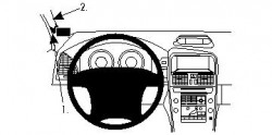 Fixation voiture Proclip  Brodit Volvo XC60 Réf 804258