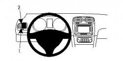 Fixation voiture Proclip  Brodit Volkswagen Golf Réf 804262