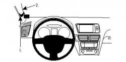 Fixation voiture Proclip Brodit Audi Q5 (uniquement pour tableau de bord ancienne version) Réf 804265