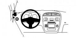 Fixation voiture Proclip  Brodit Seat Altea Réf 804273