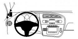 Fixation voiture Proclip  Brodit Seat Leon Réf 804274
