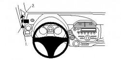 Fixation voiture Proclip  Brodit Honda Fit Réf 804276