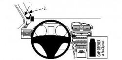 Fixation voiture Proclip  Brodit Toyota Avensis Réf 804282
