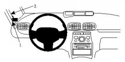 Fixation voiture Proclip  Brodit Citroen C3 Picasso Réf 804295