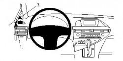 Fixation voiture Proclip  Brodit Lexus RX Series Réf 804323