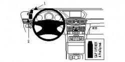 Fixation voiture Proclip  Brodit Mercedes Benz E-Class (200-430) Sedan Réf 804332