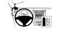 Fixation voiture Proclip  Brodit Nissan Pixo Réf 804337