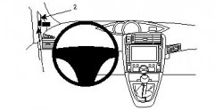 Fixation voiture Proclip  Brodit Toyota Verso Réf 804340