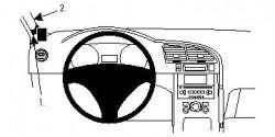Fixation voiture Proclip  Brodit Peugeot 3008 Réf 804346