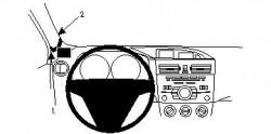 Fixation voiture Proclip  Brodit Mazda 3 Réf 804353