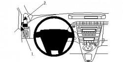 Fixation voiture Proclip  Brodit Toyota Prius Réf 804356