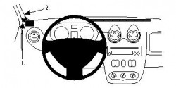 Fixation voiture Proclip  Brodit Dacia Duster Réf 804400