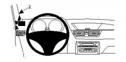 Fixation voiture Proclip  Brodit BMW X1 E84 Réf 804425