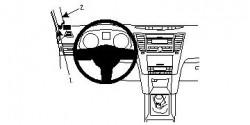 Fixation voiture Proclip  Brodit Subaru Legacy Réf 804427