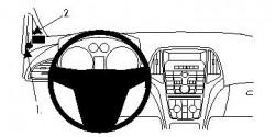 Fixation voiture Proclip  Brodit Buick Verano  PAS pour le modèle GTC. Réf 804438