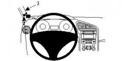 Fixation voiture Proclip  Brodit Peugeot 5008 Réf 804441