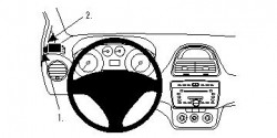Fixation voiture Proclip  Brodit Fiat Punto Evo Réf 804445