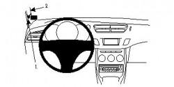 Fixation voiture Proclip Brodit Citroen C3 Réf 804455