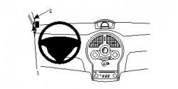 Fixation voiture Proclip  Brodit Renault Modus Réf 804456