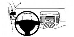 Fixation voiture Proclip  Brodit Nissan Evalia Réf 804464