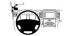 Fixation voiture Proclip  Brodit Toyota LandCruiser Réf 804469