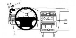 Fixation voiture Proclip  Brodit Skoda Fabia Réf 804482