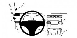 Fixation voiture Proclip  Brodit Suzuki Kizashi Réf 804485