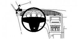 Fixation voiture Proclip  Brodit Saab 9-5 Réf 804515