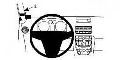 Fixation voiture Proclip  Brodit Opel Meriva Réf 804519
