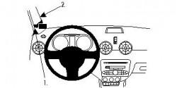 Fixation voiture Proclip  Brodit Audi A1 Réf 804527