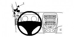 Fixation voiture Proclip  Brodit Citroen C4 Aircross Réf 804529