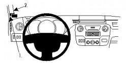 Fixation voiture Proclip  Brodit Nissan NV400 Réf 804530