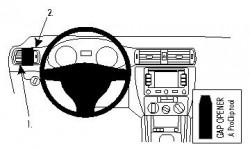 Fixation voiture Proclip  Brodit Volkswagen Jetta Réf 804534