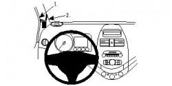 Fixation voiture Proclip  Brodit Chevrolet Spark Réf 804556