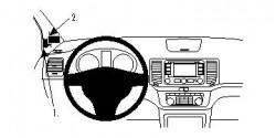 Fixation voiture Proclip  Brodit Seat Alhambra Réf 804564