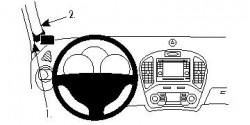 Fixation voiture Proclip  Brodit Nissan Juke Réf 804574