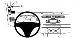 Fixation voiture Proclip  Brodit Alfa Romeo Giulietta Réf 804586