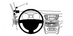 Fixation voiture Proclip  Brodit Peugeot 508 Réf 804589