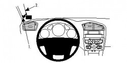 Fixation voiture Proclip  Brodit Citroen C4 II Réf 804591