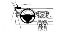 Fixation voiture Proclip  Brodit Hyundai i10 Réf 804593
