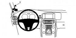 Fixation voiture Proclip  Brodit Volvo S60 Réf 804598