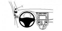 Fixation voiture Proclip  Brodit Subaru Trezia Réf 804613