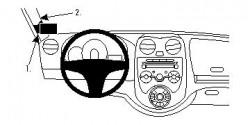 Fixation voiture Proclip  Brodit Nissan Micra Réf 804630